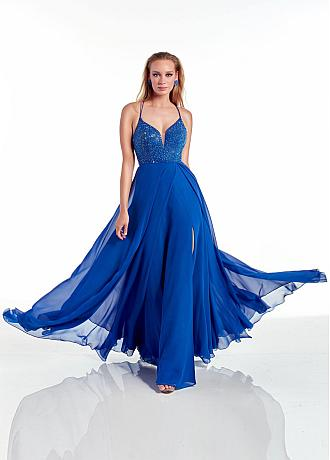 Stunning Siamese Trousers Chiffon Spaghetti Straps Neckline Full-length Evening Dresses With Beadings