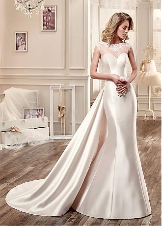 Elegant Tulle & Satin Bateau Neckline 2 in 1 Wedding Dresses with Beaded Embroidery