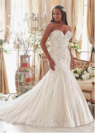 Gorgeous Tulle Sweetheart Neckline Mermaid Plus Size Wedding Dresses With Beaded Embroidery