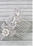 In Stock Stunning Alloy Wedding Hair Jewelry With Rhinestones & Pearls