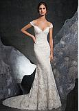 Chic Tulle Off-the-shoulder Neckline Mermaid Wedding Dress With Lace Appliques