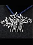 In Stock Fashionable Alloy Silver Wedding Hair Ornament With Rhinestones