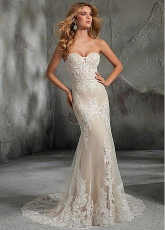 Marvelous Tulle Sweetheart Neckline Mermaid Wedding Dress With Lace Appliques & Beadings