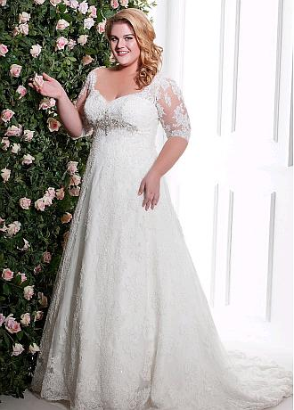 Marvelous Tulle Sweetheart Neckline Plus Size A-line Wedding Dresses With Beadings & Lace Appliques